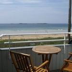 Terrasse avec vue mer de l'appartement 2 pièces