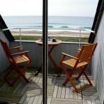 Terrasse avec vue mer de l'appartement 3 pièces