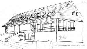 La villa Ventolera dessinée par l'architecte Rémy de Sèze en 2006