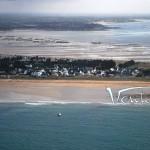 La plage de Penthièvre vue du ciel